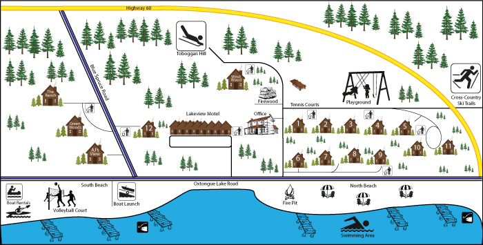 Blue Spruce Resort Map